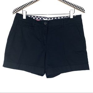 Boden Black Flat Front Chino Shorts 8 Y3414